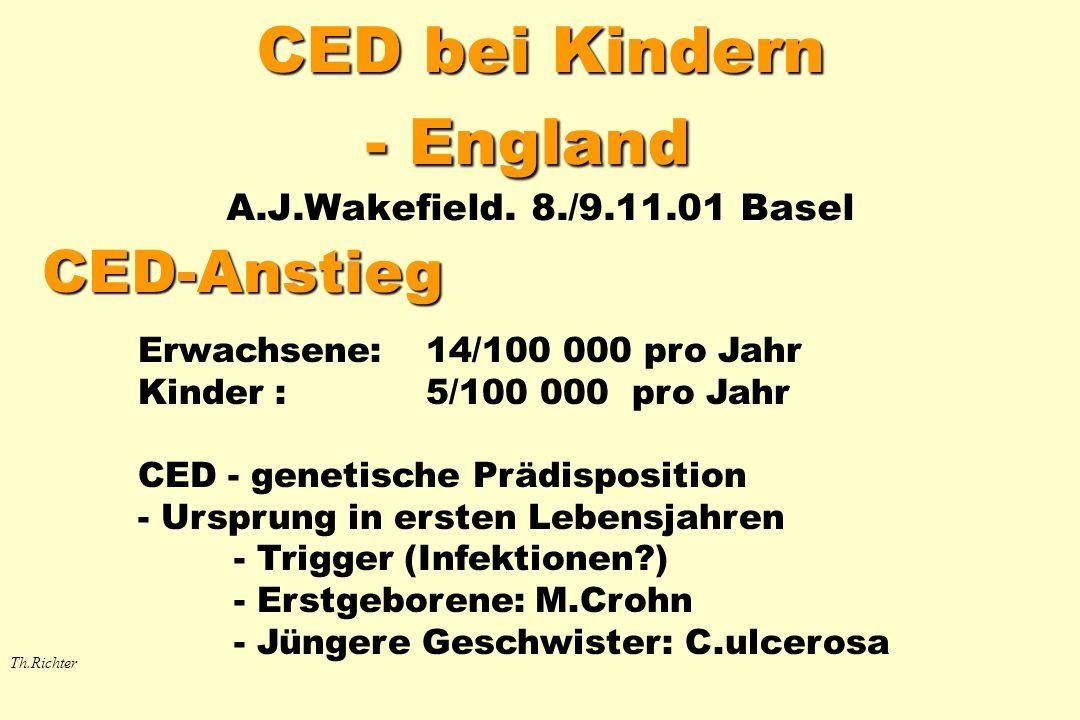 CED bei Kindern - England A.J.Wakefield. 8./9.11.01 Basel