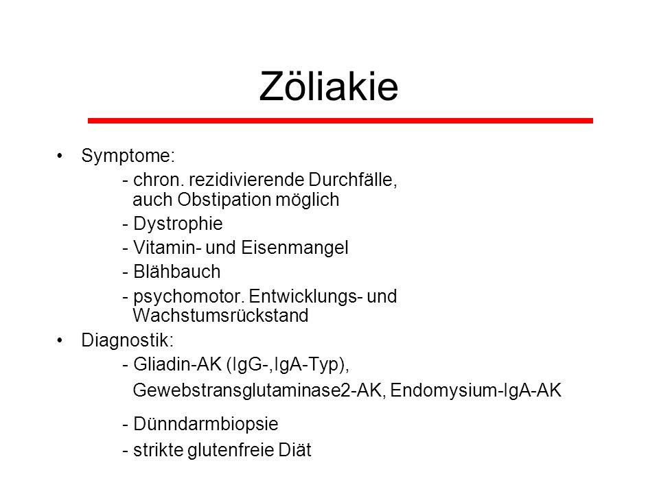 Zöliakie - Dünndarmbiopsie Symptome: