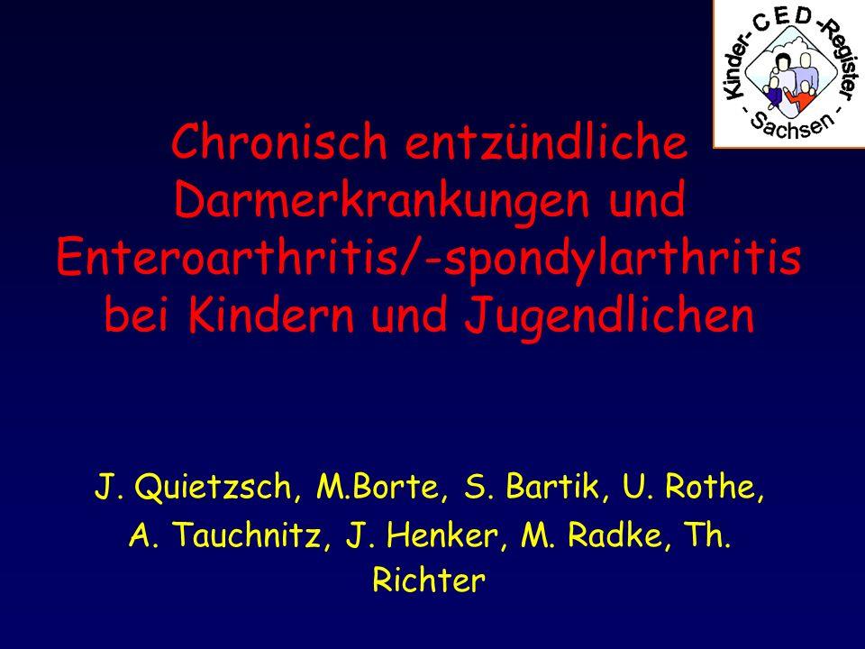 Chronisch entzündliche Darmerkrankungen und Enteroarthritis/-spondylarthritis bei Kindern und Jugendlichen