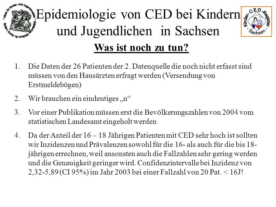 Epidemiologie von CED bei Kindern und Jugendlichen in Sachsen