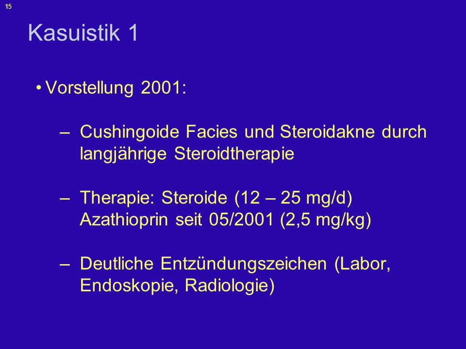 Kasuistik 1 Vorstellung 2001: