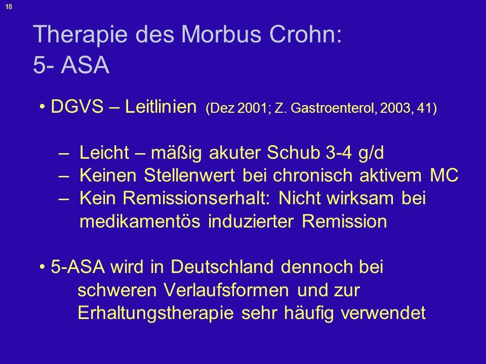 Therapie des Morbus Crohn: 5- ASA