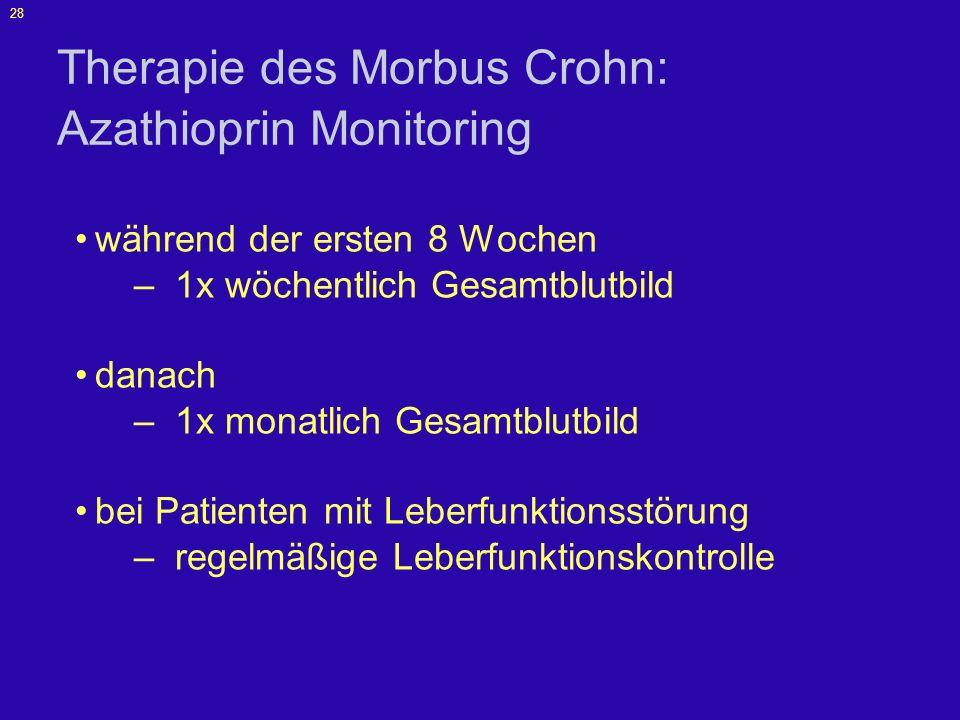 Therapie des Morbus Crohn: Azathioprin Monitoring
