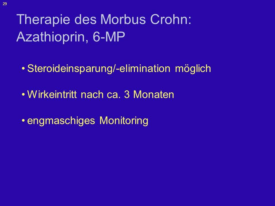 Therapie des Morbus Crohn: Azathioprin, 6-MP