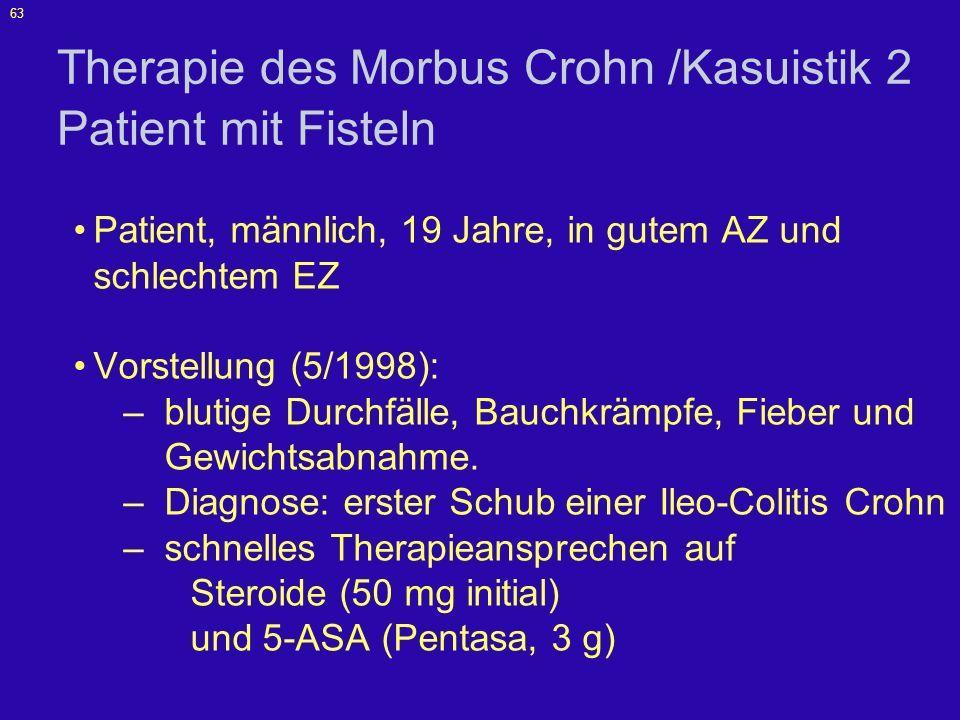 Therapie des Morbus Crohn /Kasuistik 2 Patient mit Fisteln