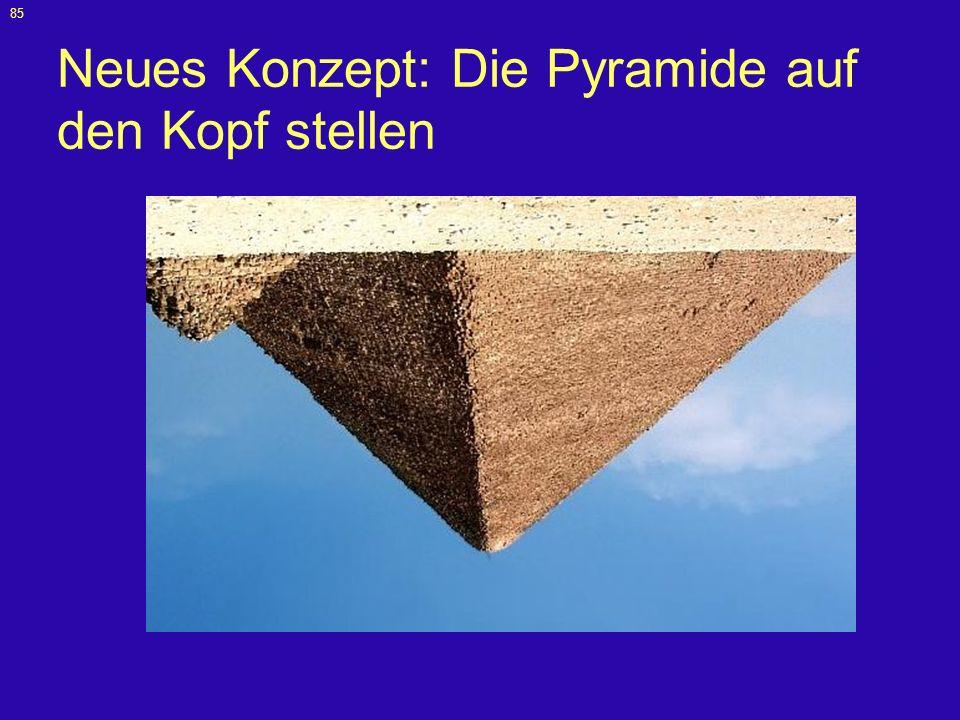 Neues Konzept: Die Pyramide auf den Kopf stellen