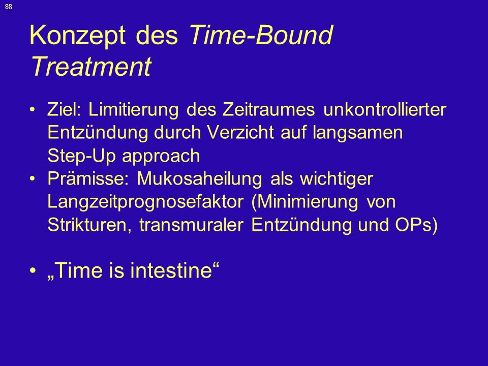 Konzept des Time-Bound Treatment