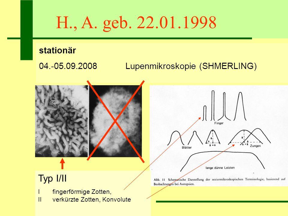 H., A. geb. 22.01.1998 Typ I/II stationär