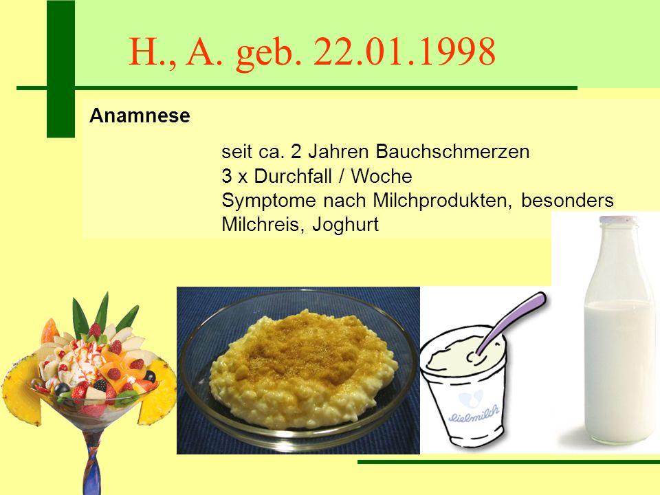 H., A. geb. 22.01.1998Anamnese.