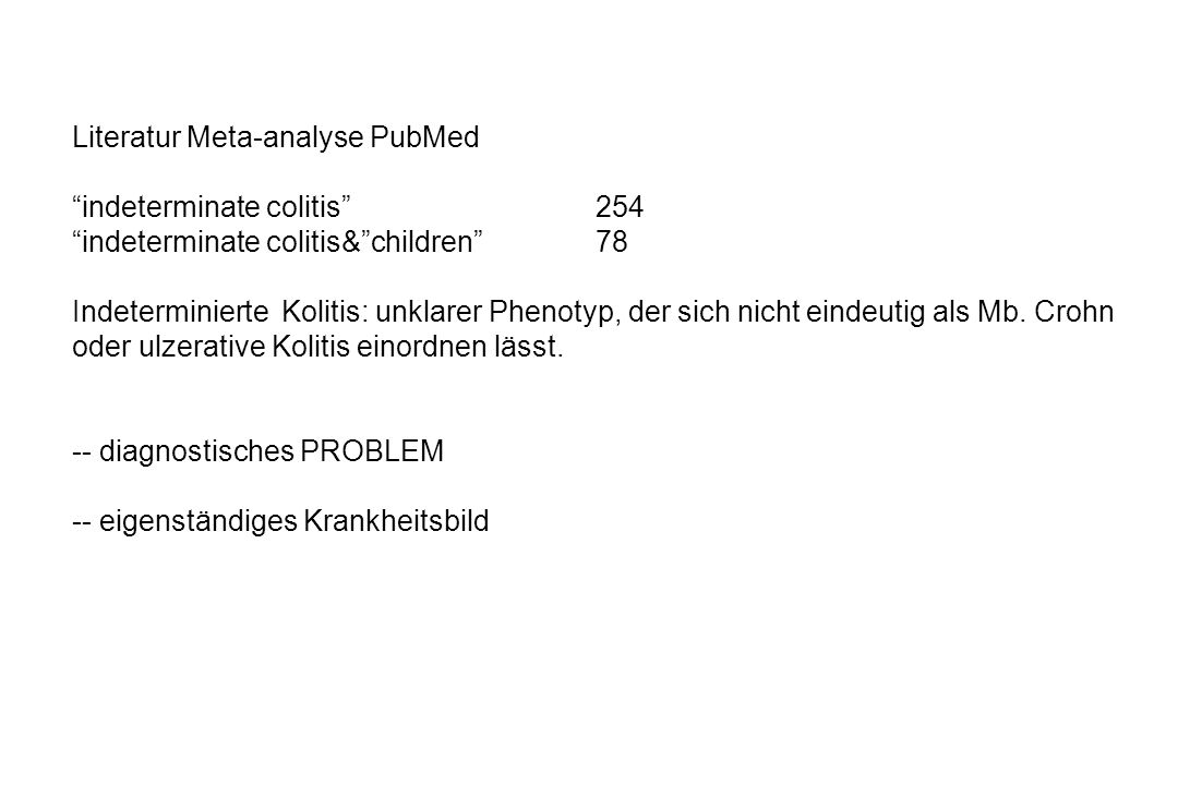 Literatur Meta-analyse PubMed