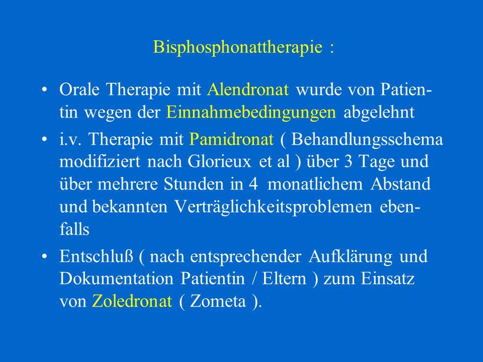 Bisphosphonattherapie :