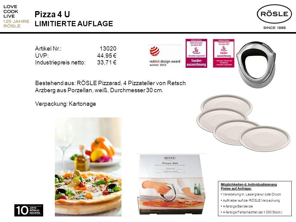 Pizza 4 U LIMITIERTE AUFLAGE
