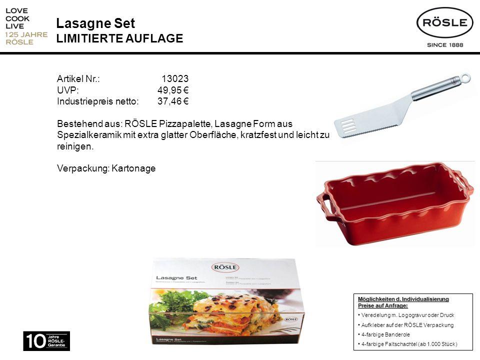 Lasagne Set LIMITIERTE AUFLAGE