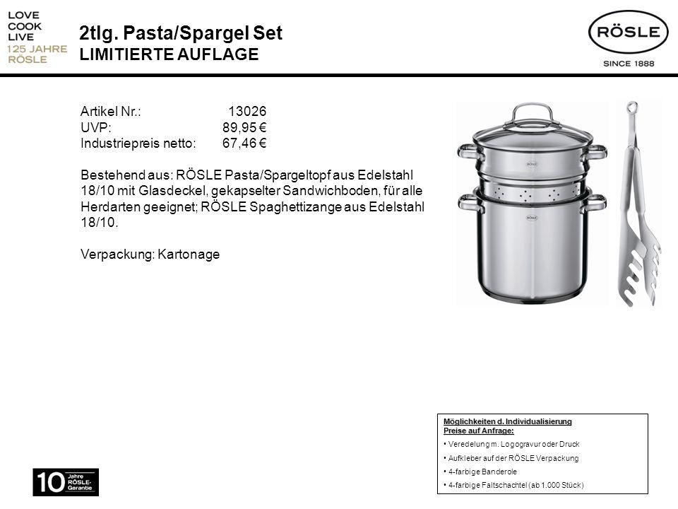 2tlg. Pasta/Spargel Set LIMITIERTE AUFLAGE