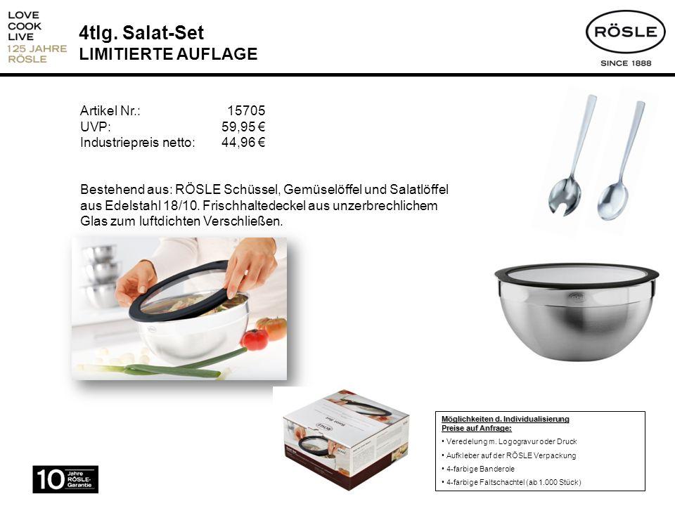 4tlg. Salat-Set LIMITIERTE AUFLAGE