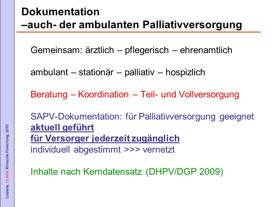–auch- der ambulanten Palliativversorgung