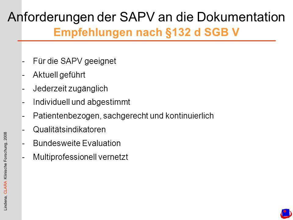 Anforderungen der SAPV an die Dokumentation Empfehlungen nach §132 d SGB V