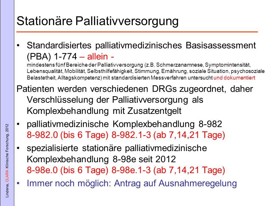 Stationäre Palliativversorgung