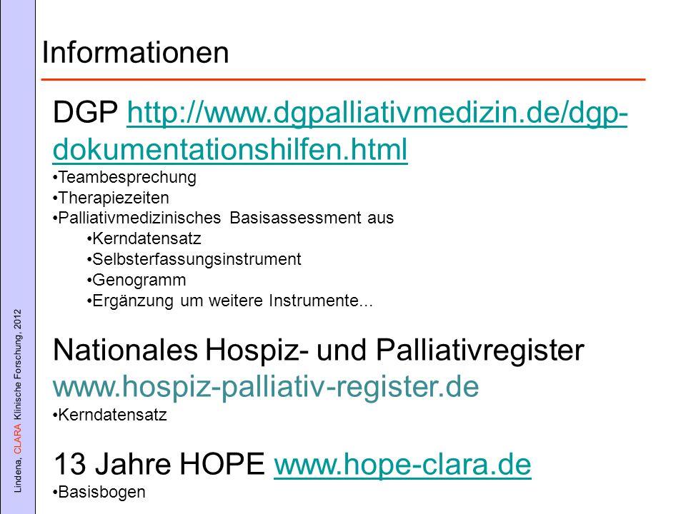 DGP http://www.dgpalliativmedizin.de/dgp-dokumentationshilfen.html