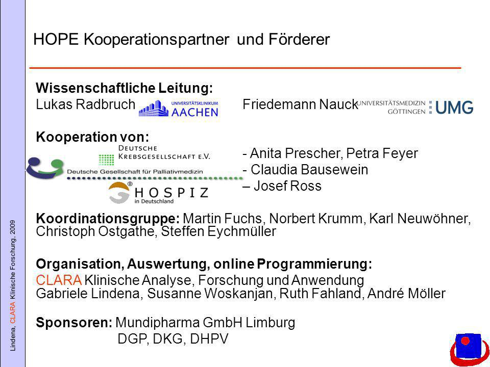 HOPE Kooperationspartner und Förderer
