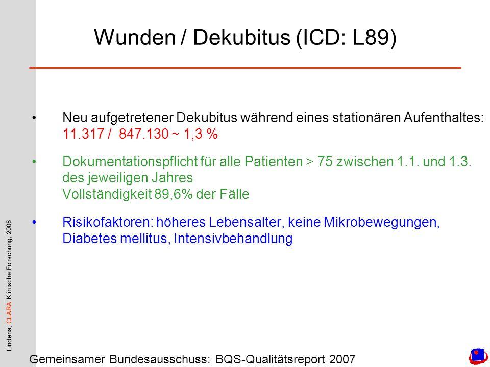 Wunden / Dekubitus (ICD: L89)