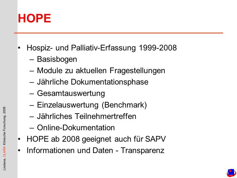 HOPE Hospiz- und Palliativ-Erfassung 1999-2008 Basisbogen
