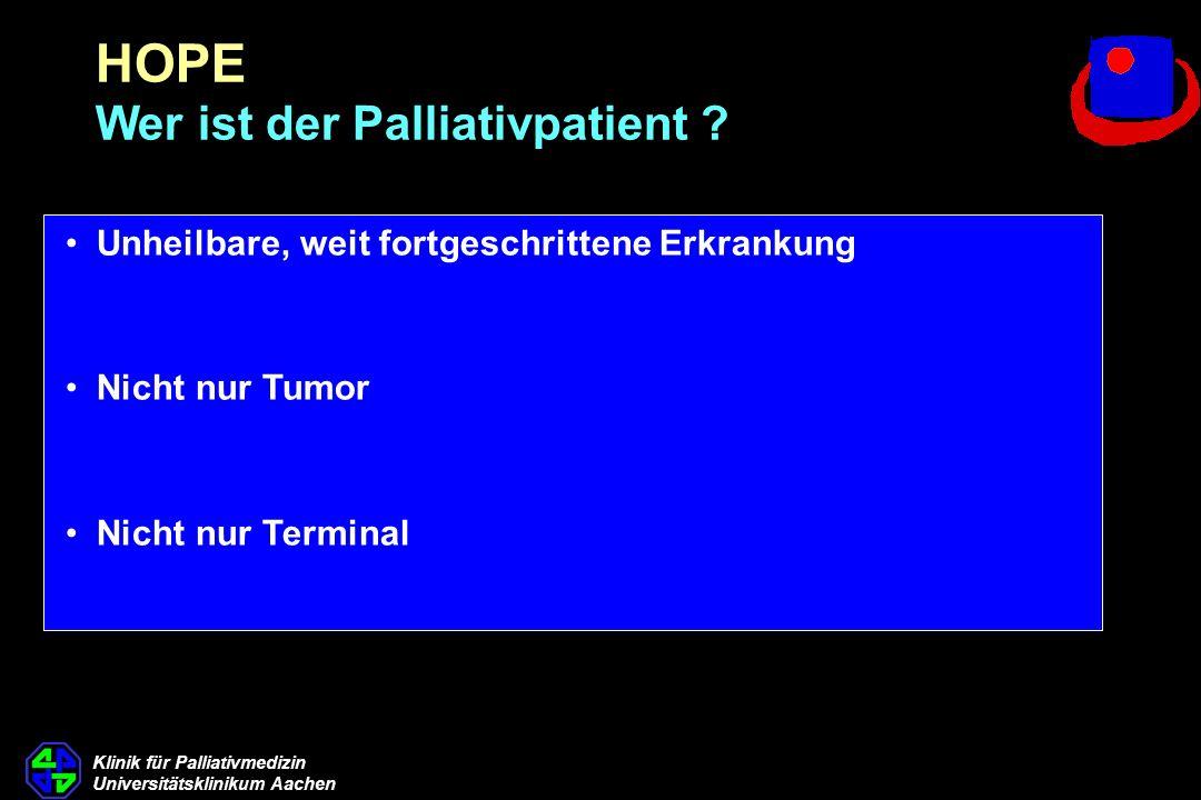 HOPE Wer ist der Palliativpatient