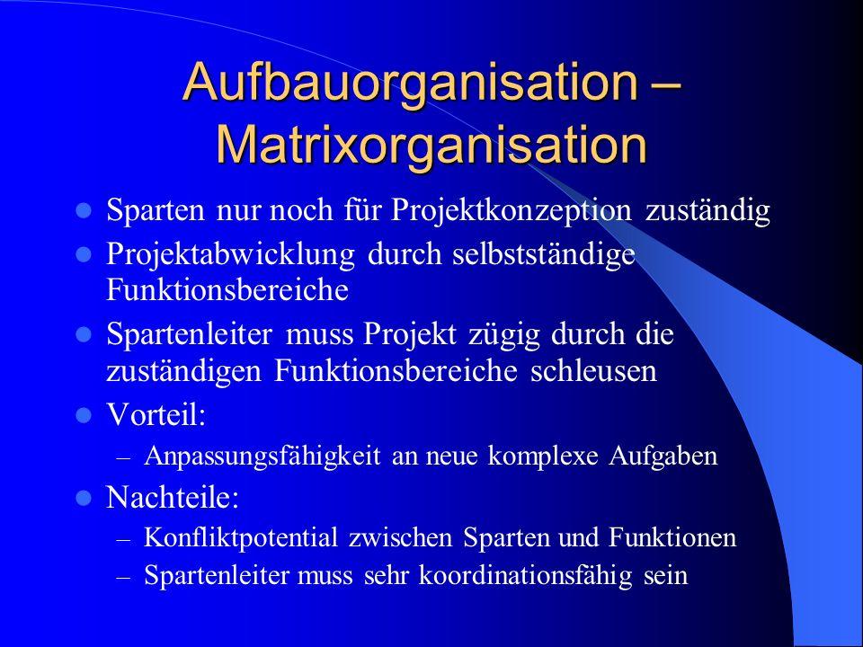 Aufbauorganisation – Matrixorganisation