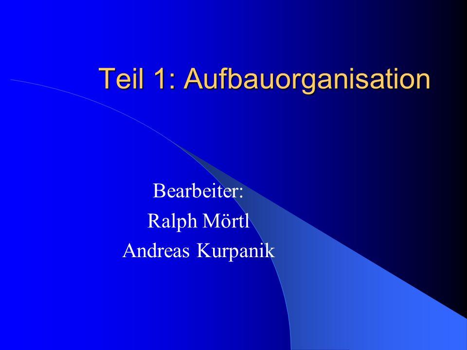 Teil 1: Aufbauorganisation