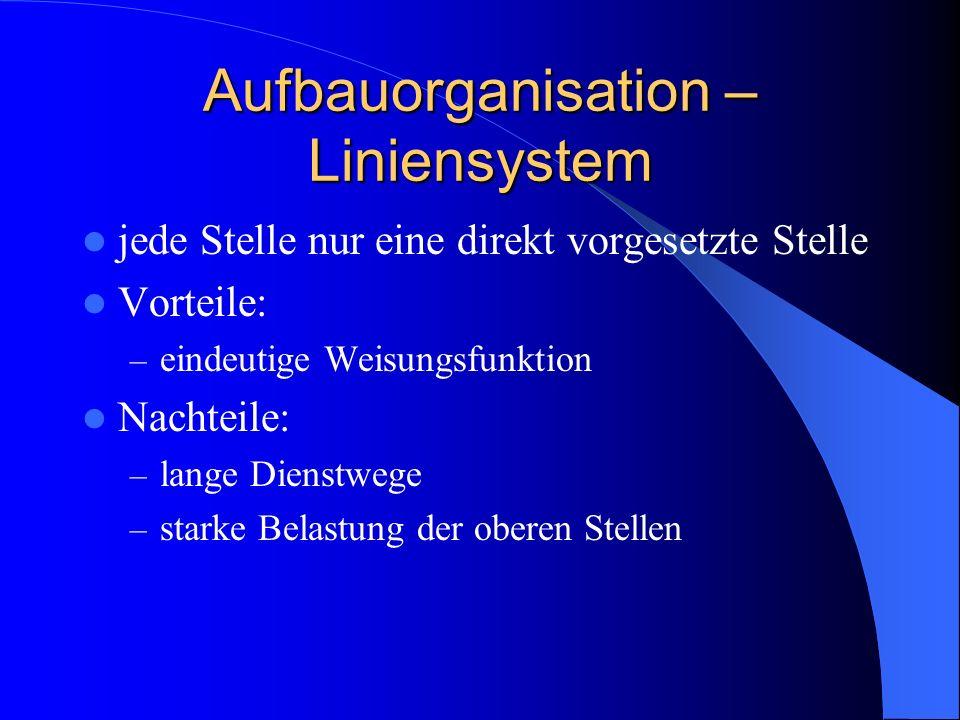 Aufbauorganisation – Liniensystem