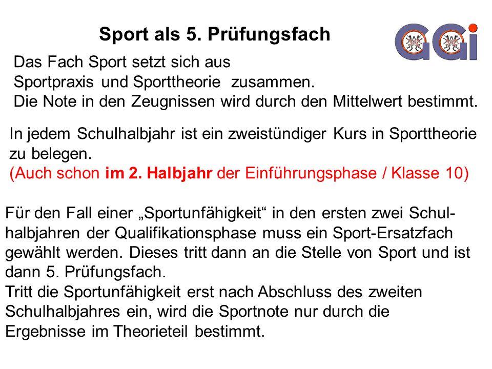 Sport als 5. Prüfungsfach
