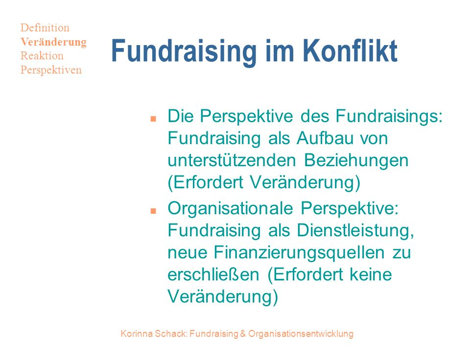 Fundraising im Konflikt