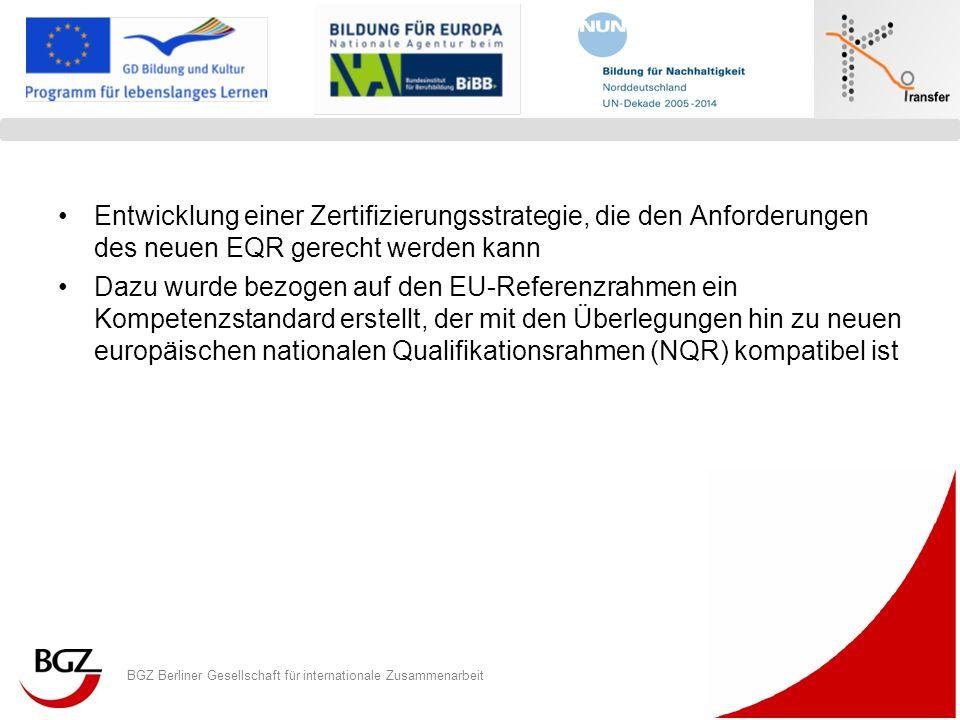 Entwicklung einer Zertifizierungsstrategie, die den Anforderungen des neuen EQR gerecht werden kann