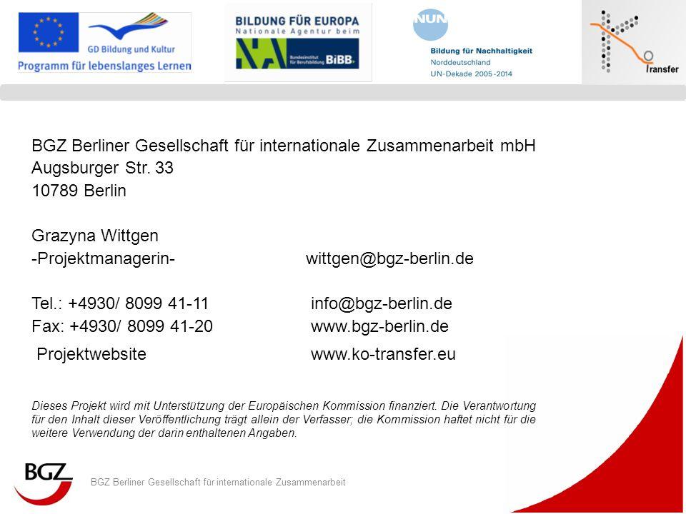 BGZ Berliner Gesellschaft für internationale Zusammenarbeit mbH