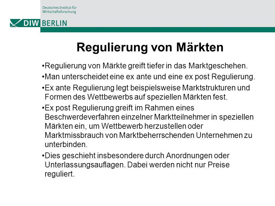 Regulierung von Märkten
