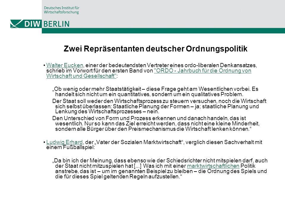 Zwei Repräsentanten deutscher Ordnungspolitik