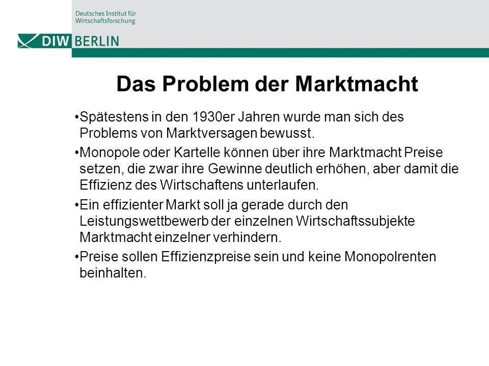Das Problem der Marktmacht