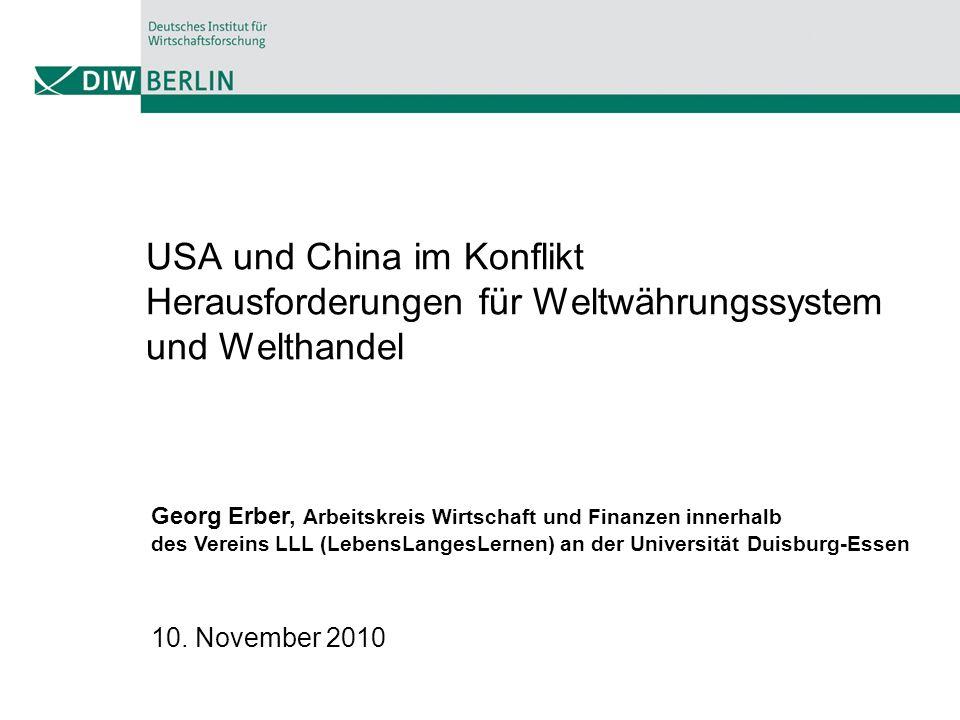 USA und China im Konflikt Herausforderungen für Weltwährungssystem und Welthandel