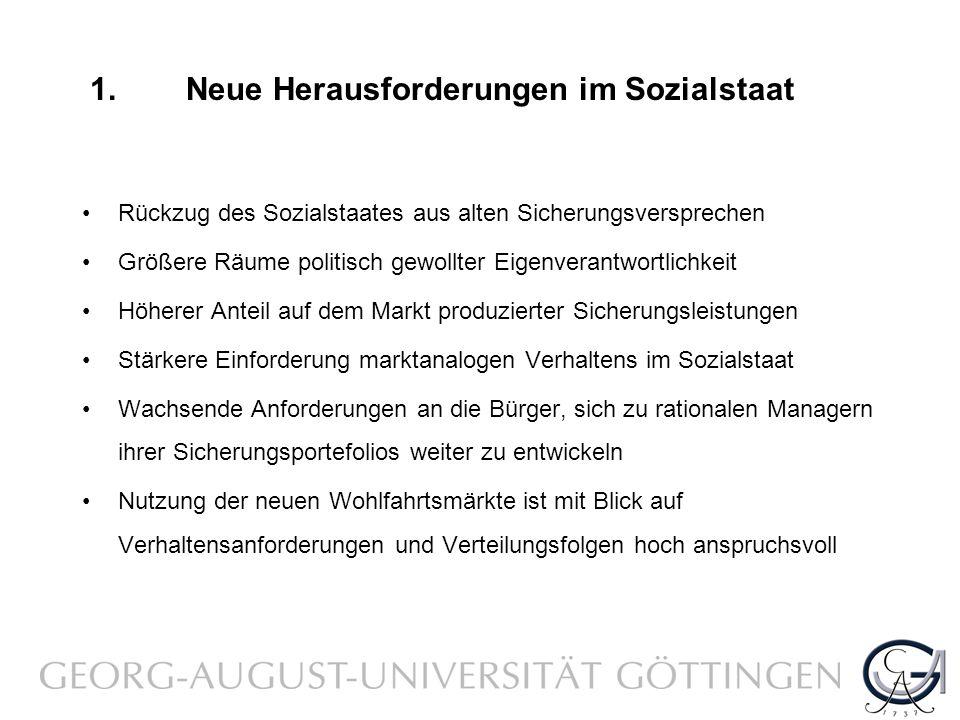 1. Neue Herausforderungen im Sozialstaat