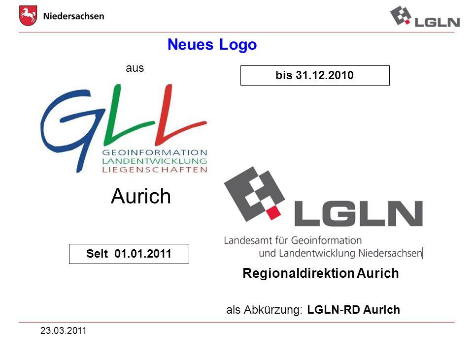 Aurich Neues Logo aus bis 31.12.2010 Seit 01.01.2011
