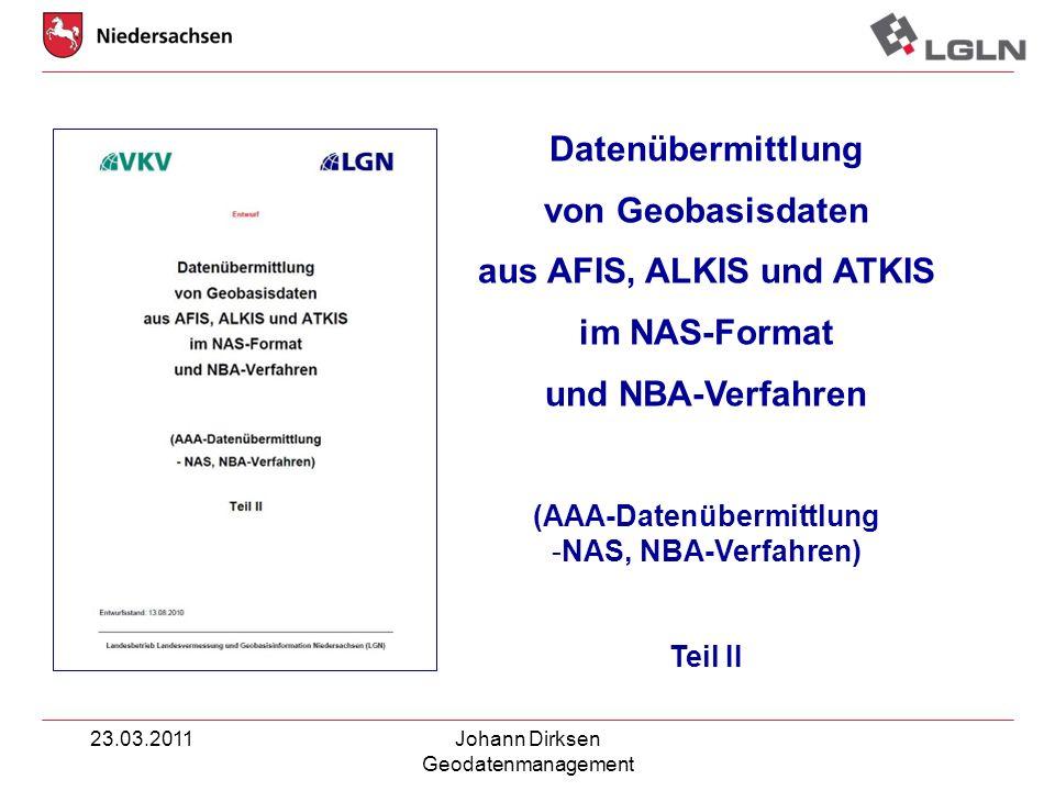 aus AFIS, ALKIS und ATKIS (AAA-Datenübermittlung