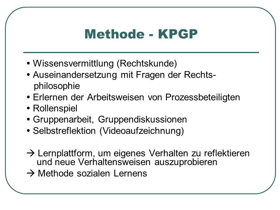 Methode - KPGP  Wissensvermittlung (Rechtskunde)