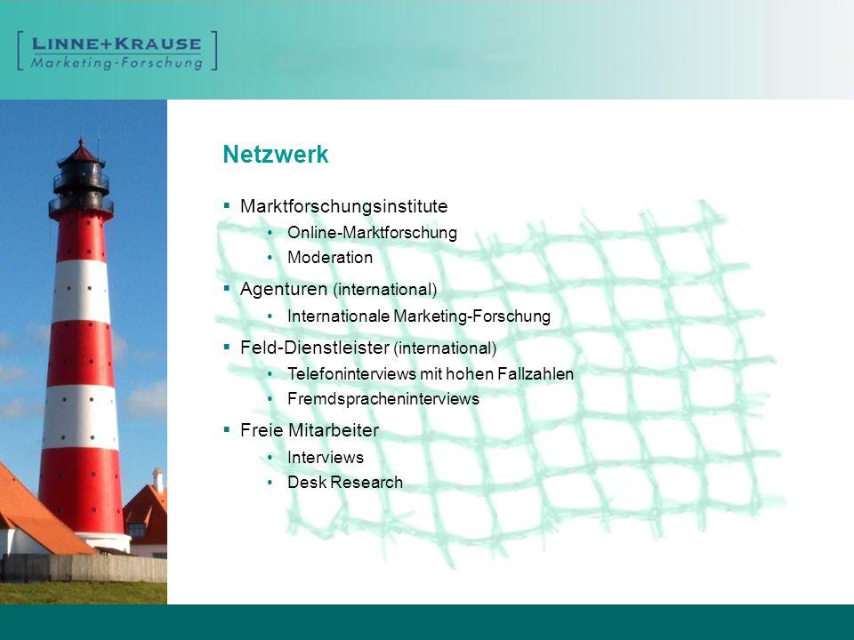 Netzwerk Marktforschungsinstitute Agenturen (international)