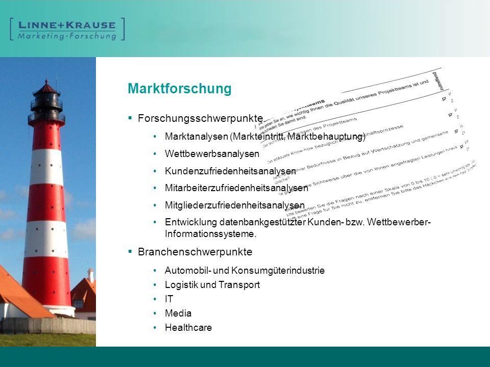 Marktforschung Forschungsschwerpunkte Branchenschwerpunkte