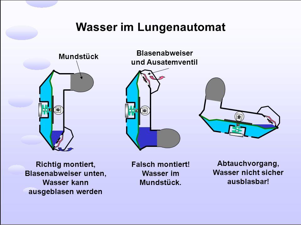 Wasser im Lungenautomat