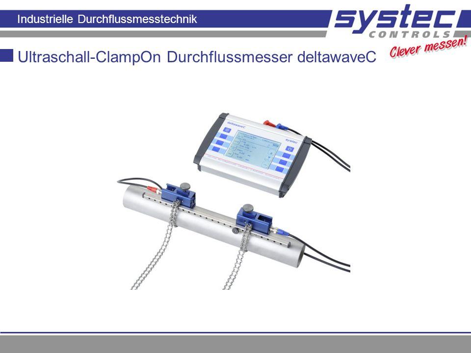 Ultraschall-ClampOn Durchflussmesser deltawaveC
