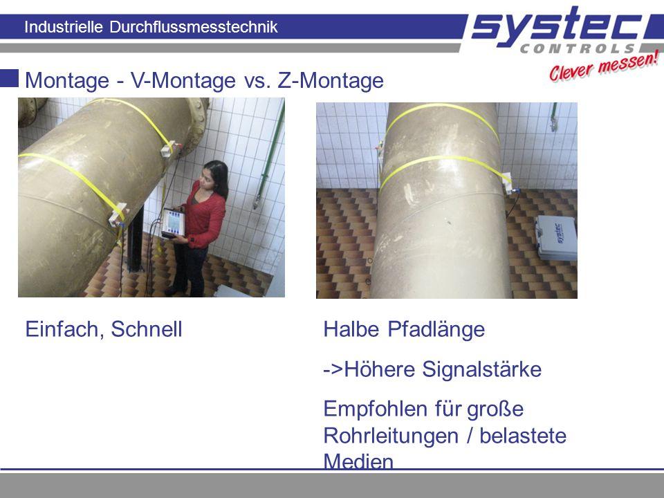 Montage - V-Montage vs. Z-Montage