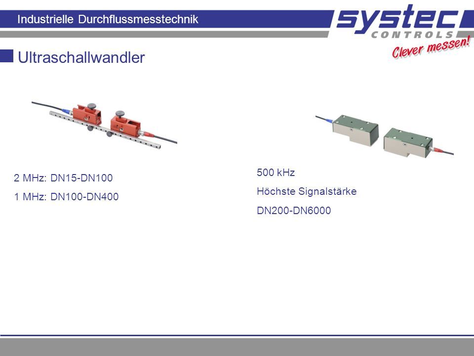Ultraschallwandler 500 kHz 2 MHz: DN15-DN100 Höchste Signalstärke