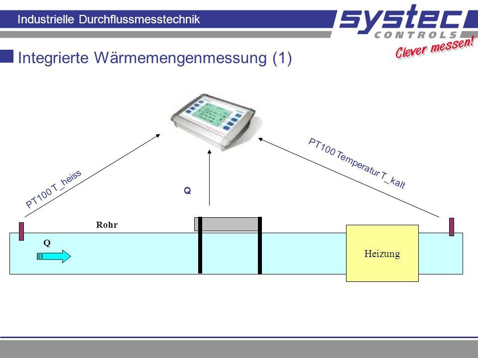 Integrierte Wärmemengenmessung (1)