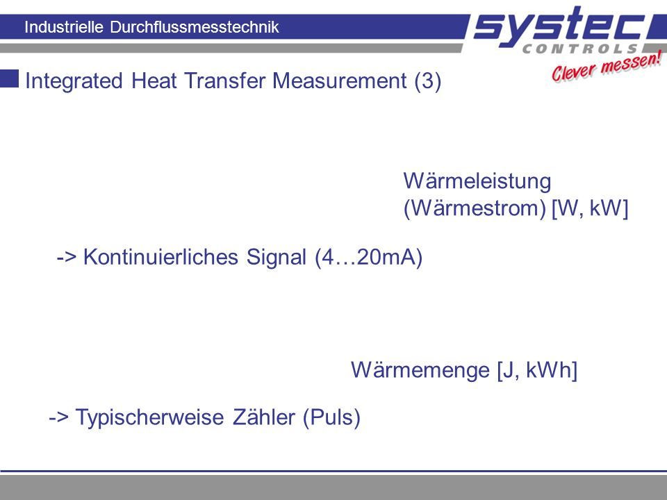 Integrated Heat Transfer Measurement (3)